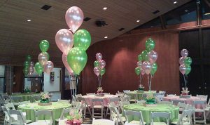 Green And Pink Tables